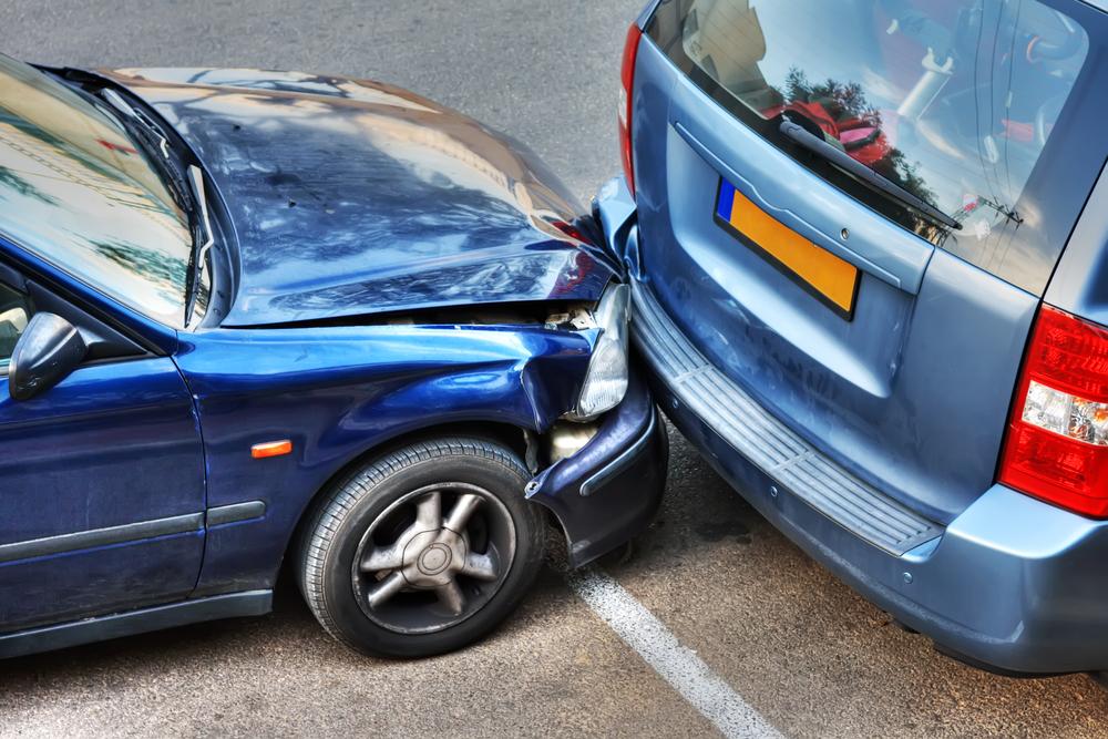 stłuczka na parkingu